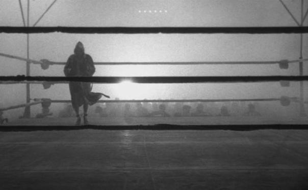 "Scorsese keeps the viewer well away from his ""Raging Bull"" - the ropes also provide a physical barrier between La Motta and the audience..."